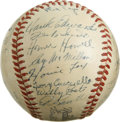 Autographs:Baseballs, 1949 Cincinnati Reds Team Signed Baseball. Fantastic vintage ONL(Frick) baseball has been graced with 29 signatures from t...