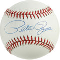 "Autographs:Baseballs, Pete Rose Single Signed Baseball. Nicknamed ""Charlie Hustle"" forhis style of play, Pete Rose added his bold and dominating..."