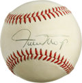Autographs:Baseballs, Willie Mays Single Signed Baseball. Member of the Baseball Hall of Fame and the exclusive 600 home run club, Willie Mays pen...
