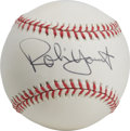 Autographs:Baseballs, Robin Yount Single Signed Baseball and Signed Card. Member of theBaseball Hall of Fame, Robin Yount spent his entire major...