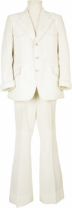 Music Memorabilia:Costumes, Elvis' White Dinner Suit. A two piece white dress suit from 1969,owned and worn by the King. The polyester ensemble include...(Total: 1 Item)