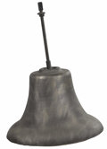 Bronze:American, An American Bronze Bell. Unknown Maker, USA. Nineteenth century.Cast Bronze. 23.5 inches high x 28 inches wide . With un...