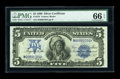 Large Size:Silver Certificates, Fr. 278 $5 1899 Silver Certificate PMG Gem Uncirculated 66 EPQ....