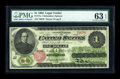 Large Size:Legal Tender Notes, Fr. 17a $1 1862 Legal Tender PMG Choice Uncirculated 63 EPQ....