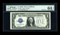 Small Size:Silver Certificates, Fr. 1604 $1 1928D Silver Certificate Fancy Serial Number. PMG Choice Uncirculated 64 EPQ.. ...
