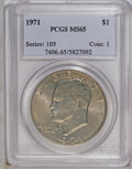 Eisenhower Dollars: , 1971 $1 MS65 PCGS. PCGS Population (486/34). NGC Census: (438/23). Mintage: 47,799,000. Numismedia Wsl. Price: $160. (#7406...
