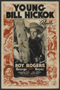 "Movie Posters:Western, Young Bill Hickok (Republic, 1940). One Sheet (27"" X 41""). Western. ..."