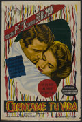 "Movie Posters:Hitchcock, Spellbound (United Artists, R-Late 1940s). Argentinean One Sheet(29"" X 43""). Hitchcock. ..."