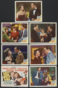 """East Side, West Side (MGM, 1950). Title Lobby Card and Lobby Cards (6) (11"""" X 14""""). Drama. ... (Total: 7 Items..."""
