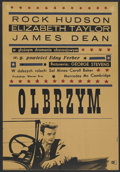 """Movie Posters:Drama, Giant (Warner Brothers, R-1965). Polish One Sheet A1 Vertical (23"""" X 33""""). Drama. ..."""