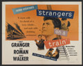"""Movie Posters:Hitchcock, Strangers on a Train (Warner Brothers, 1951). Half Sheet (22"""" X28""""). Hitchcock. ..."""