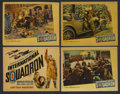 "Movie Posters:War, International Squadron (Warner Brothers, 1941). Title Lobby Cardand Lobby Cards (3) (11"" X 14""). War. ... (Total: 4 Items)"