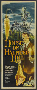 "Movie Posters:Horror, House on Haunted Hill (Allied Artists, 1959). Insert (14"" X 36"").Horror. ..."