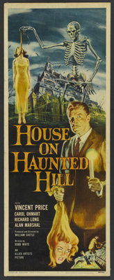 "House on Haunted Hill (Allied Artists, 1959). Insert (14"" X 36""). Horror"