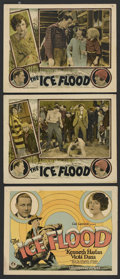 "Movie Posters:Action, The Ice Flood (Universal, 1926). Title Lobby Card and Lobby Cards(2) (11"" X 14""). Action. ... (Total: 3 Items)"