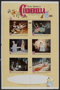 "Movie Posters:Animated, Cinderella (Buena Vista, R-1965). One Sheet (27"" X 41"") Style B.Animated. ..."