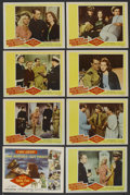 "Movie Posters:Comedy, Kiss Them for Me (20th Century Fox, 1957). Lobby Card Set of 8 (11"" X 14""). Comedy. ... (Total: 8 Items)"