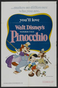 "Movie Posters:Animated, Pinocchio (Buena Vista, R-1978). One Sheet (27"" X 41""). Animated. ..."