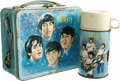 Music Memorabilia:Memorabilia, Beatles Metal Lunchbox with Thermos. Produced by Aladdin Industriesin 1965, this was the first metal box to use pop music p... (Total:1 Item)