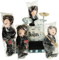 Music Memorabilia:Memorabilia, Set of Beatles Forever Dolls with Stage. A complete set of BeatlesForever dolls and specially made cardboard stage. The dol...(Total: 4 Item)