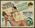 "Movie Posters:Drama, Grand Canary (Fox, 1934). Half Sheet (22"" X 28""). Drama. ..."