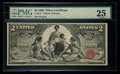 Large Size:Silver Certificates, Low Serial Number 50 Fr. 247 $2 1896 Silver Certificate PMG Very Fine 25.. ...