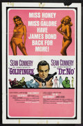 "Movie Posters:James Bond, Goldfinger/Dr. No Combo (United Artists, 1966). One Sheet (27"" X41""). James Bond...."