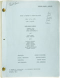 "Movie/TV Memorabilia:Documents, ""Laugh-In"" Script, Episode Two of the First Season. Broadcast from1968 to 1973 on NBC, Rowan & Martin's Laugh-In provid...(Total: 1 Item)"
