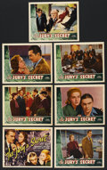 """Movie Posters:Crime, The Jury's Secret (Universal, 1938). Title Lobby Card and LobbyCards (6) (11"""" X 14""""). Crime. ... (Total: 7 Items)"""