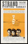 "Movie Posters:Drama, Giant (Warner Brothers, R-1963). Window Card (14"" X 22""). Drama...."