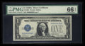 Small Size:Silver Certificates, Two Digit Serial Number 96 Fr. 1601 $1 1928A Silver Certificate. PMG Gem Uncirculated 66 EPQ.. ...