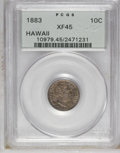 Coins of Hawaii: , 1883 10C Hawaii Ten Cents XF45 PCGS. PCGS Population (35/244). NGCCensus: (14/154). Mintage: 250,000. (#10979)...
