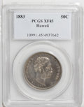 Coins of Hawaii: , 1883 50C Hawaii Half Dollar XF45 PCGS. PCGS Population (32/302).NGC Census: (24/195). Mintage: 700,000. (#10991)...