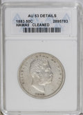 Coins of Hawaii: , 1883 50C Hawaii Half Dollar--Cleaned--ANACS. AU53 Details. NGCCensus: (11/168). PCGS Population (19/242). Mintage: 700,000...