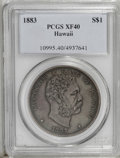 Coins of Hawaii: , 1883 $1 Hawaii Dollar XF40 PCGS. PCGS Population (85/300). NGCCensus: (31/178). Mintage: 500,000. (#10995)...