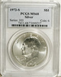 Eisenhower Dollars: , 1972-S $1 Silver MS68 PCGS. PCGS Population (1230/10). NGC Census: (312/5). Mintage: 2,193,056. (#7411)...
