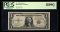 Small Size:World War II Emergency Notes, Fr. 2300 $1 1935A Hawaii Silver Certificate. PCGS Superb Gem New 68PPQ.. ...