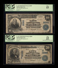National Bank Notes:Kentucky, Paducah, KY - $10 1902 Plain Back Fr. 629 and $20 1902 Date BackFr. 647 The City NB Ch. # 2093. ... (Total: 2 notes)
