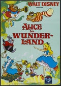 "Movie Posters:Animated, Alice in Wonderland (Buena Vista, R-2003). German Poster (23"" X33""). Animated Musical. Starring the voices of Kathryn Beaum..."
