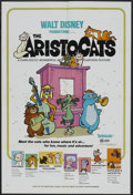 "Movie Posters:Animated, The Aristocats (Buena Vista, 1971). One Sheet (27"" X 41""). AnimatedComedy. Starring the voices of Eva Gabor, Phil Harris, H..."