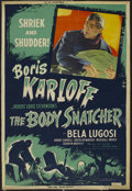 "Movie Posters:Horror, The Body Snatcher (RKO, R-1952). Poster (40"" X 60""). Horror. Starring Boris Karloff, Bela Lugosi, Henry Daniell, Edith Atwat..."