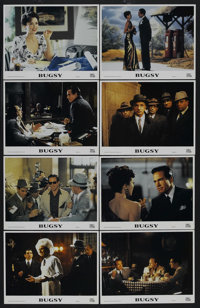 "Bugsy (Columbia/Tristar, 1991). Lobby Card Set of 8 (11"" X 14""). Crime. Starring Warren Beatty, Annette Bening..."