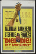 "Movie Posters:Horror, Die, Die My Darling (Hammer Films, 1965). One Sheet (27"" X 41""). Horror Thriller. Starring Tallulah Bankhead, Stefanie Power..."