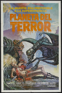 "Galaxy of Terror (New World Pictures, 1981). Spanish Language One Sheet (27"" X 41""). Sci-Fi Horror. Starring E..."