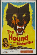 "Movie Posters:Crime, The Hound of the Baskervilles (United Artists, 1959). One Sheet(27"" X 41""). Mystery. Starring Peter Cushing, Andre Morell, ..."