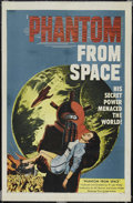 """Movie Posters:Science Fiction, Phantom From Space (United Artists, 1953). One Sheet (27"""" X 41"""").Science Fiction. Starring Ted Cooper, Harry Landers, Tom D..."""