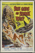 "Movie Posters:Adventure, She Gods of Shark Reef (American International, 1958). One Sheet(27"" X 41""). Adventure. Starring Bill Cord, Don Durant, Lis..."