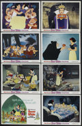 "Movie Posters:Animated, Snow White and the Seven Dwarfs (Buena Vista, R-1980s). Title Lobby Card (11"" X 14"") and Lobby Cards (7) (11"" X 14""). Animat... (Total: 8 Items)"