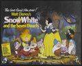 "Movie Posters:Animated, Snow White and the Seven Dwarfs (Buena Vista, R-1970s). British Quad (30"" X 40""). Animated. Starring the voices of Adriana C..."