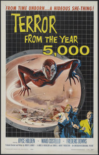 "Terror from the Year 5000 (American International, 1958). One Sheet (27"" X 41""). Science Fiction. Starring War..."